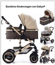 Kinderwagen Daliya Bambino braun gold