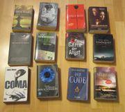 12 Thriller und Romane alles