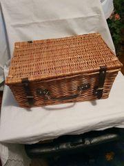 Original englischer Picknickkorb Flechtkorb mit