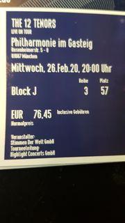 2 Konzert Tickets München am