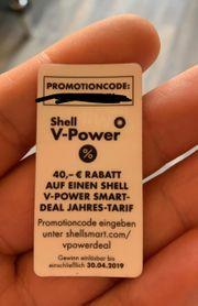 Shell V-Power smartdeal 40 Rabatt