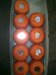 450 gr Filetgarn kupferorange 2