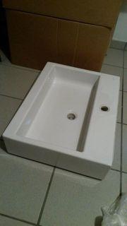 Aufsatz-Waschbecken weiss Laufen