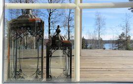 Ferienhäuser, - wohnungen - luxuriöses Ferienhaus Schweden Seeblick großes