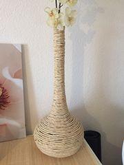 Vase Flasche aus Wasserhyazinthe