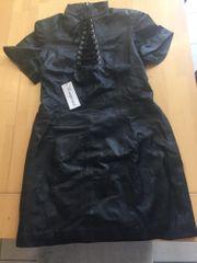 Echt Leder Kleid Gr 42
