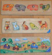 Puzzle - Holzsteckpuzzle mit Anfassknöpfen