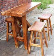 Bartisch aus Massivholz Suar Gastronomie-Hotel-Möbel