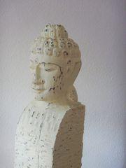 Buddha-Stele aus Holz