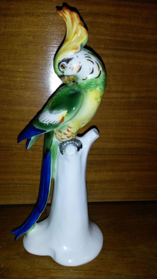 papagei porzellan gebraucht kaufen nur 2 st bis 70. Black Bedroom Furniture Sets. Home Design Ideas