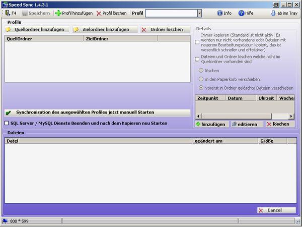 SpeedSync Datensicherung