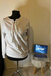 Weißer Pullover Größe L XL
