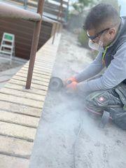 Klinker Sanierung - Alte Fugen entfernen