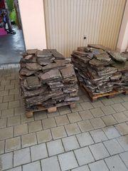 Porphyr Natursteinplatten gebraucht