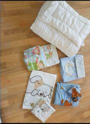 Decke Kissen plus 4mal Bettwäsche