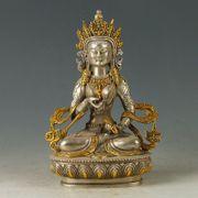 Buddha Statue Shakyamuni Silber Gold