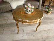 122 Venezianischer ovaler Tisch Blatt-vergoldet