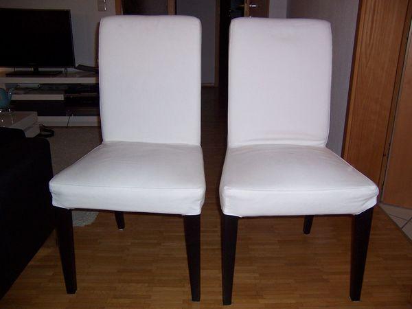 1 oder 2 Stühle Esszimmerstuhl Holz Stoff schwarz weiß - Weinsberg - Verkauft werden wahlweise einer oder beide abgebildeten Stühle Henriksdal; ideal geeignet für Esszimmer oder Wohnzimmer. Stoffbezüge sind abnehmbar und waschbar.Preis je Stuhl: 30 EUR - Weinsberg