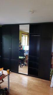 Kleiderschrank IKEA PAX schwarz-braun