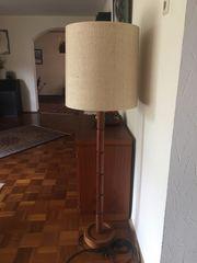 2 stilvolle Teak-Lampen - Stehlampe und