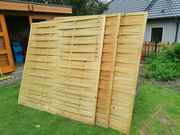 3 neuwertige Sichtschutzwände Holz Höhe