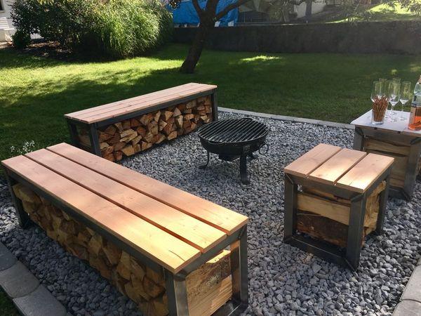 gartenbank hocker grillplatz in dornbirn gartenm bel kaufen und verkaufen ber private. Black Bedroom Furniture Sets. Home Design Ideas