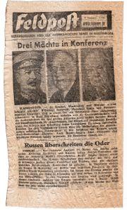 Propaganda-Flugblatt Zeitdokument Feldpost 18 Nummer