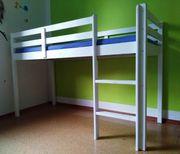 Kinder Hochbett IKEA 170Lx76Bx111H mit