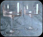 2 schlicht-neural gearbeitete Glasschalen