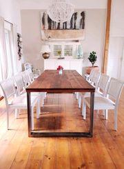 Tisch Massivholztisch Industriedesign