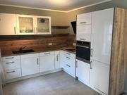 Küche in Hochglanz-Weiß inkl Elektrogeräte