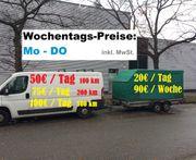 50EUR Transporter Kasten LKW Vermietung