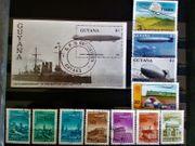 Briefmarken Zeppelin Flugzeug
