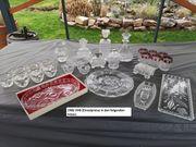 Antique Alte Vasen Gläser Kuchenplatten