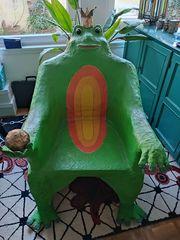 Rarität Froschkönig Stuhl handgefertigt Einzelstück