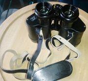 Fernglas mit Ledertasche