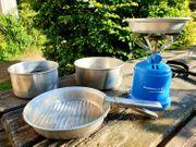 Camping Geschirr Topf-Set 5-teilig Kocher