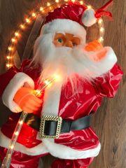 Neu Weihnachtsmann beleuchtet innen aussen