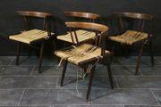 4er Satz Midcentury Designer Stühle