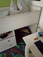 Hochbett Weiß mit Schreibtisch und