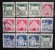 Deutsche Bundespost 1960 Bauwerke Großformat