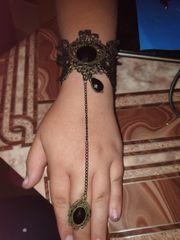 Gothic Armband mit Ring