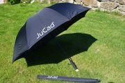JuCad Schirm schwarz mit Stift