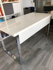 Moderner Schreibtisch weiß hochglanz
