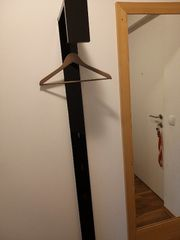 Garderobenpaneel schwarz