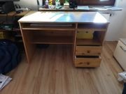 Schreibtisch mit ausziehbaren Platten Kiefer