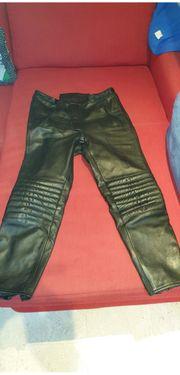 Motorradhose schwarze Echt Leder Größe