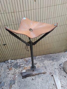 Campingartikel - Antiker Jagdsitz aus Echtleder
