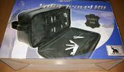 Kulturbeutel Reisekulturtasche Schwarz NEU Leather