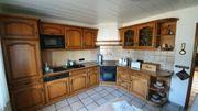 Küche Einbauküche L-Form Eiche massiv